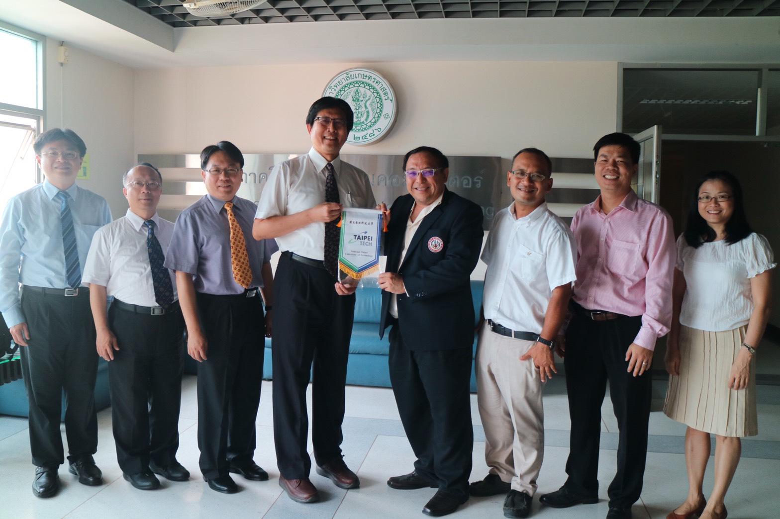 คณะผู้แทนจาก National Taipei University of Technology เยี่ยมชมห้องปฏิบัติการวิจัยภาควิชาวิศวกรรมคอมพิวเตอร์