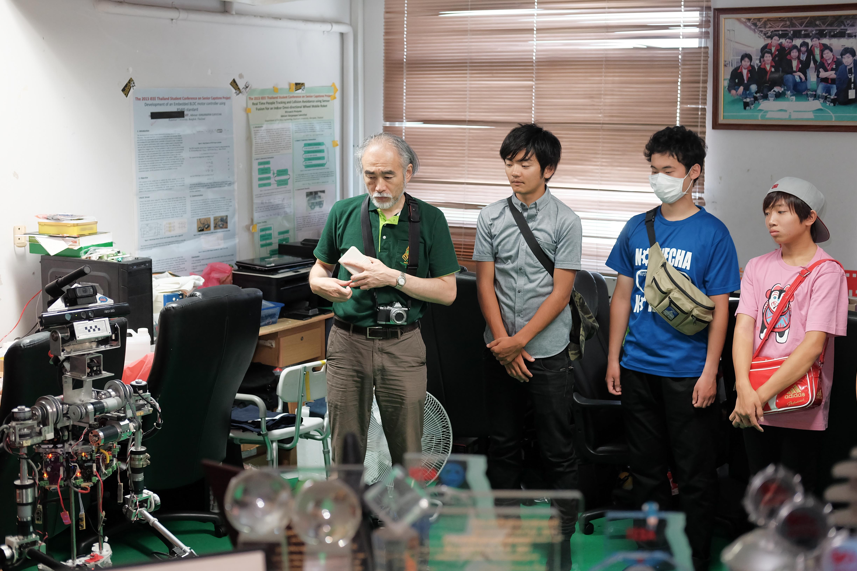 ยินดีต้อนรับ คณาจารย์และนิสิตจาก National Institute of Technology, Kitakyushu College เข้าเยี่ยมชมห้องปฏิบัติการวิจัยหุ่นยนต์จักรกลอัจฉริยะ